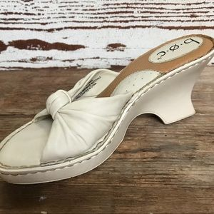 Born B.O.C. Concepts Cream  Knot Wedge Sandal  7